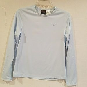LADIES NIKE DRI - FIT LONG SLEEVE TEE (sz small)